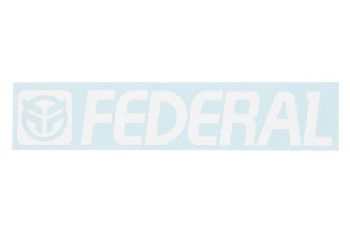 Federal 170mm Die Cut Sticker - White